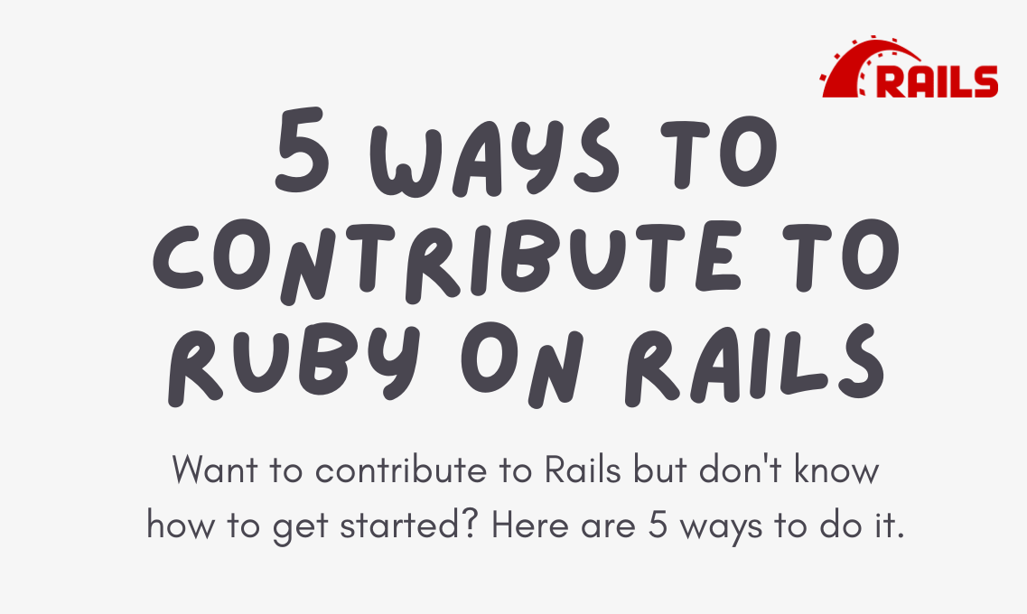 How to contribute to Ruby on Rails